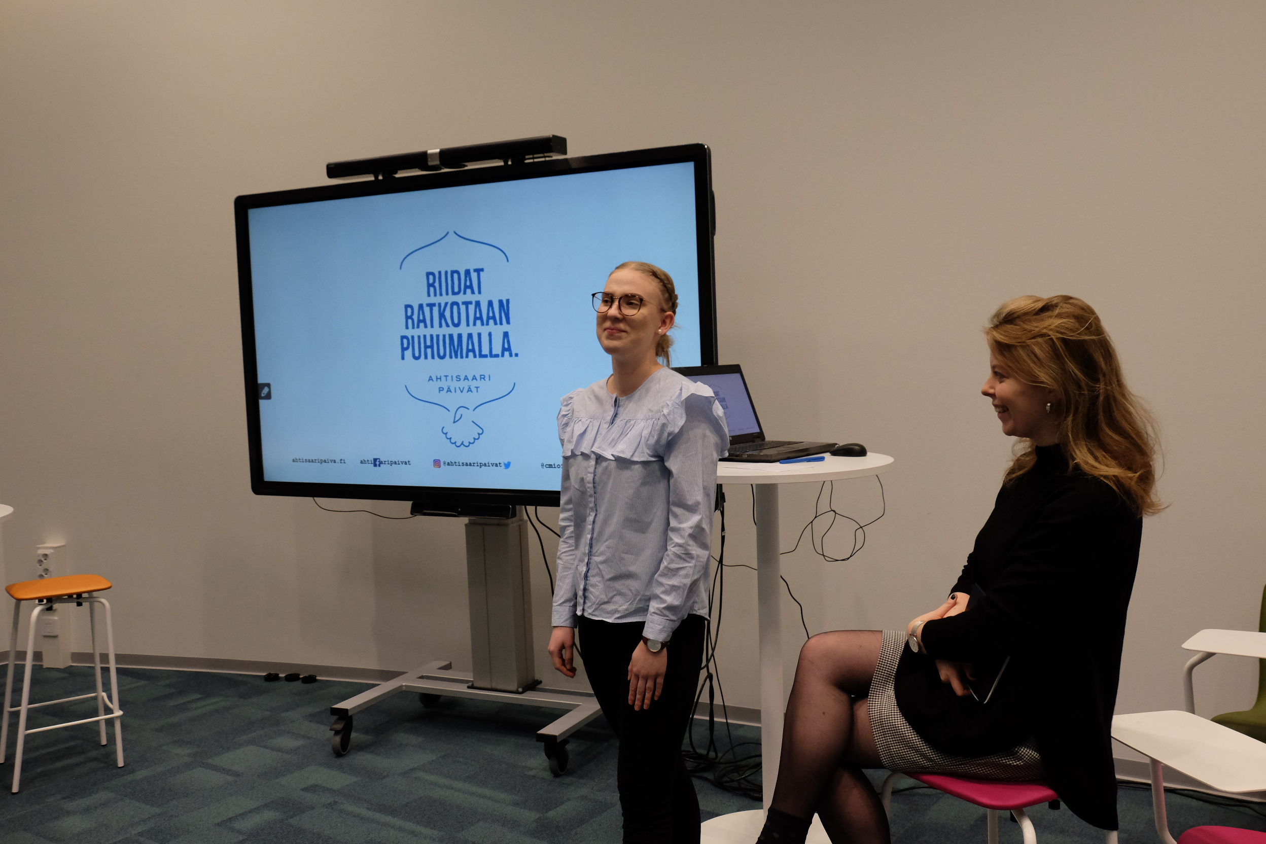 Viime vuonna Jyväskylässä Ahtisaari-päivät tavoittivat yhden päivän aikana n. 500 jyväskyläläistä koululaista ja opettajaa.