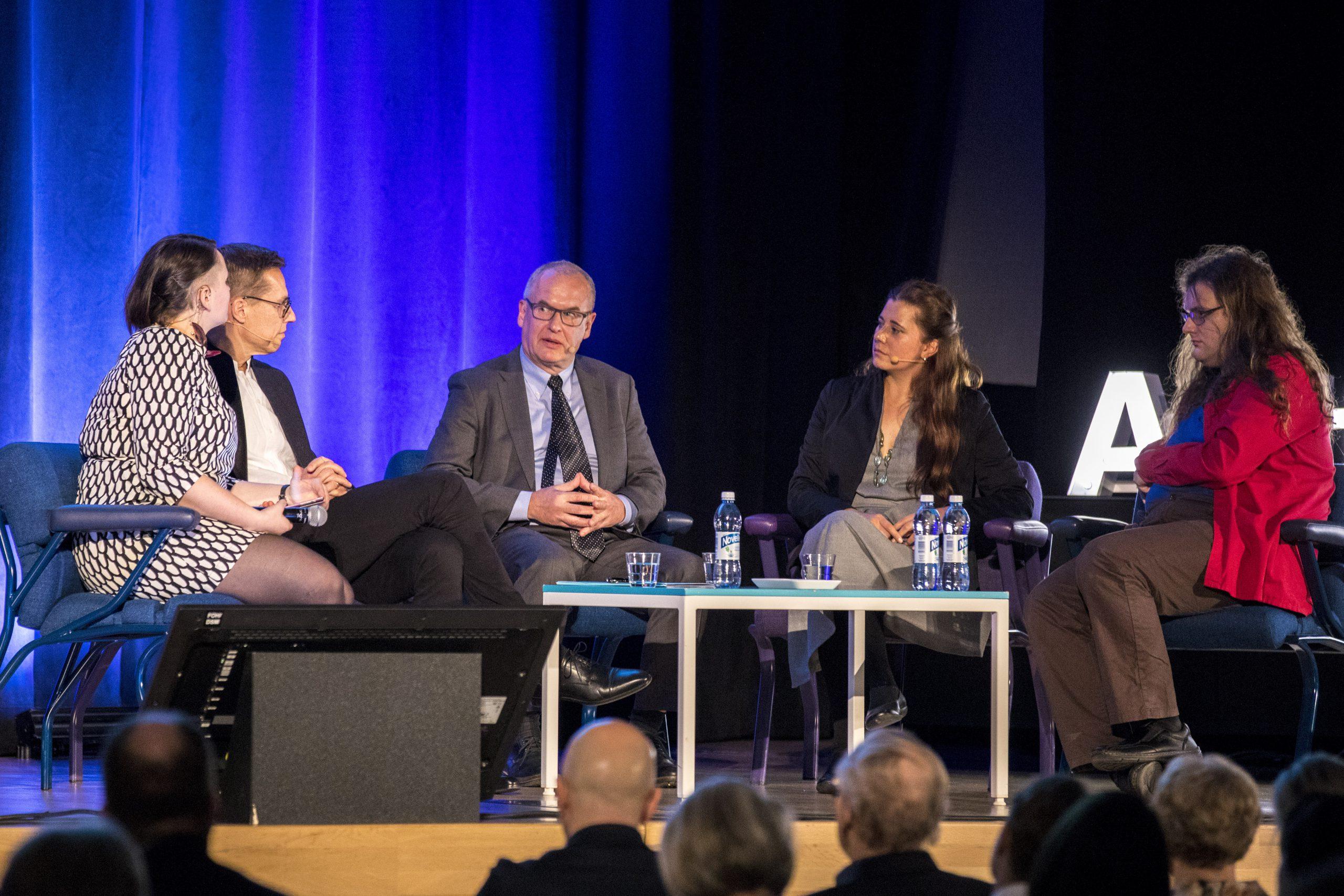 Ahtisaari-päivien vuoden 2018 yleisötilaisuus pidettiin Aalto-yliopistolla. Kuva: Mikko Raskinen
