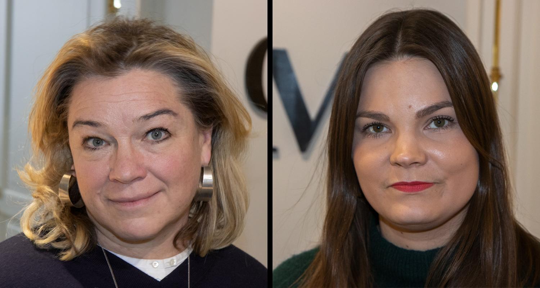 CMI:n viestintä- ja varainhankintajohtaja Elina Lehtinen ja tiedottaja Annina Peltonen.